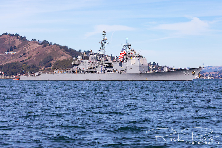 Arleigh Burke-class guided missile destroyer USS John Paul Jones on San Francisco Bay.