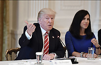 United States President Donald J. Trump speaks at the American Leadership in Emerging Technology Event in the East Room of the White House in Washington, DC, on June 22, 2017. <br /> Credit: Olivier Douliery / Pool via CNP /MediaPunch