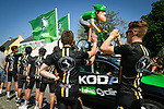 The publicity caravan passes by ahead of the race during Stage 4 of the 2018 Tour de France running 195km from La Baule to Sarzeau, France. 10th July 2018. <br /> Picture: ASO/Bruno Bade | Cyclefile<br /> All photos usage must carry mandatory copyright credit (&copy; Cyclefile | ASO/Bruno Bade)