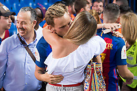 FC Barcelona's midfielder Ivan Rakitic with his girlfriend after Copa del Rey (King's Cup) Final between Deportivo Alaves and FC Barcelona at Vicente Calderon Stadium in Madrid, May 27, 2017. Spain.<br /> (ALTERPHOTOS/BorjaB.Hojas) /NortePhoto.com
