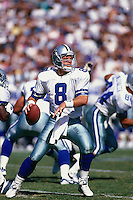 SAN DIEGO, CA - Quarterback Troy Aikman of the Dallas Cowboys in action during a game against the San Diego Chargers at Jack Murphy Stadium in San Diego, California in 1995. Photo by Brad Mangin