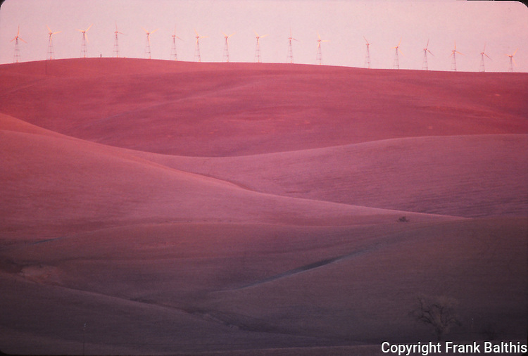 windmills at sunset, Alameda County