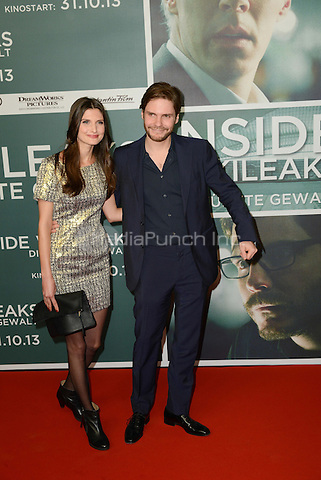 "Felicitas Rombold and Daniel Bruehl attending the ""Inside Wikileaks"" Premiere in Berlin, Germany, 21.10.2013. Photo by Janne Tervonen/insight media /MediaPunch Inc. ***FOR USA ONLY***"