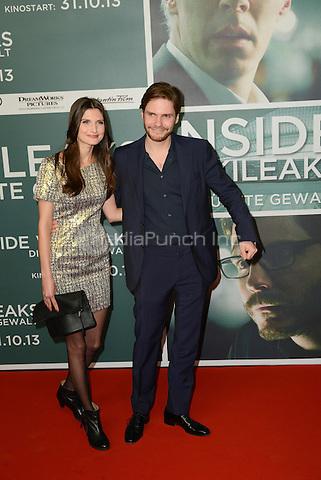 "Felicitas Rombold and Daniel Bruehl attending the ""Inside Wikileaks"" Premiere in Berlin, Germany, 21.10.2013. Photo by Janne Tervonen/insight media /MediaPunch Inc. ***FOR USA ONLY***"