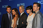NCIS Cast - Michael Weatherly - Cote de Pablo - Mark Harmon - Pauley Perrette - Brian Dietzen at the CBS Upfront on May 15, 2013 at Lincoln Center, New York City, New York. (Photo by Sue Coflin/Max Photos)
