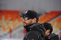 SPEEDSKATING: SOCHI: Adler Arena, 21-03-2013, Training, Kevin Crockett (trainer/coach KOR), © Martin de Jong