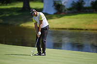 Henrik Stenson (SWE) chips on to 18 during round 1 of the WGC FedEx St. Jude Invitational, TPC Southwind, Memphis, Tennessee, USA. 7/25/2019.<br /> Picture Ken Murray / Golffile.ie<br /> <br /> All photo usage must carry mandatory copyright credit (© Golffile | Ken Murray)