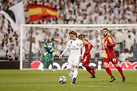 6th November 2019; Estadio Santiago Bernabeu, Madrid, Spain; UEFA Champions League Football, Real Madrid versus Galatasaray; Luka Modric (Real Madrid) on as a substitute, plays through midfield - Editorial Use