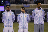 Argentina soccer player Sergio Agüero attends a friendly match between Argentina and Ecuador as Snow falls in New Jersey. 03.31.2015. Kena Betancur / VIEWpress.
