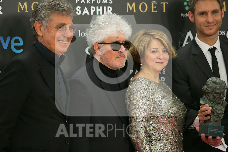 Pedro Almodovar and Agustin Almodovar attend the 2015 Goya Award Winners Photocall at Auditorium Hotel, Madrid,  Spain. February 08, 2015.(ALTERPHOTOS/)Carlos Dafonte)