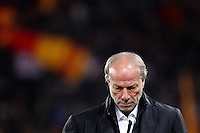 Calcio, Serie A: Roma-Genoa. Roma, stadio Olimpico, 19 marzo 2012..Football, Italian serie A: AS Roma vs Genoa. Rome, Olympic stadium, 19 march 2012..AS Roma sporting director Walter Sabatini looks down before the match..UPDATE IMAGES PRESS/Riccardo De Luca
