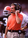Cleveland Browns Bill Belichick (Head Coach) during a game from his 1991 season with the Cleveland Browns. BIll Belichick has head coached for 21 years with 2 different teams and was the head coach for the Super Bowl winner New England Patriots in 2001, 2003, 2004 and 2014.