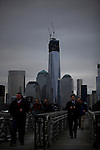 People arrive to the pier from One World Trade Center during the Mayans end of the World day in New York, United States. 21/12/2012. Photo by Eduardo Munoz Alvarez / ViEWpress