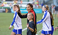Portland, OR - Saturday May 27, 2017: Nadia Nadim during a regular season National Women's Soccer League (NWSL) match between the Portland Thorns FC and the Boston Breakers at Providence Park.