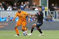 SAN JOSE, CA - JUNE 26: Kevin Garcia #16, Chris Wondolowski #8 during a Major League Soccer (MLS) match between the San Jose Earthquakes and the Houston Dynamo on June 26, 2019 at Avaya Stadium in San Jose, California.