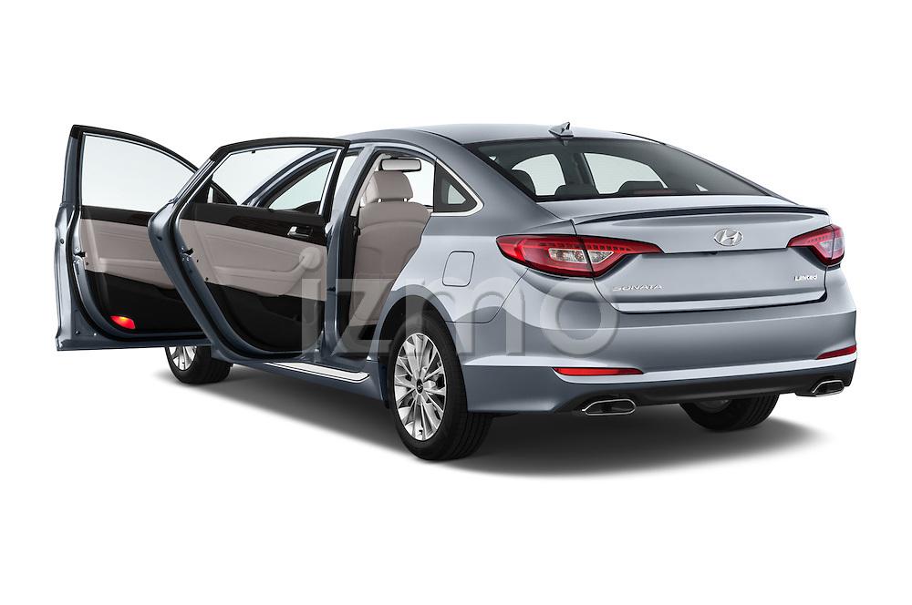 Car images close up view of a 2015 Hyundai Sonata 2.4 Auto Limited 4 Door Sedan doors