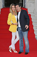"""LONDON, ENGLAND - AUGUST 08: Nicole Kimpel and Antonio Banderas at the """"Pain and Glory"""" Film4 Summer Screen opening gala & launch party, Somerset House, The Strand, on Thursday 08 August 2019 in London, England, UK.<br /> CAP/CAN<br /> ©CAN/Capital Pictures"""