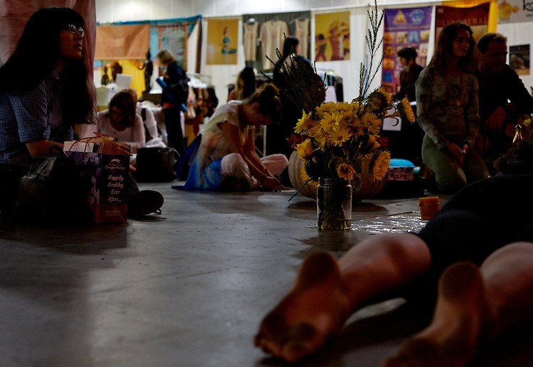 Global Mala Project (GMP) event.  Altar and prayers.