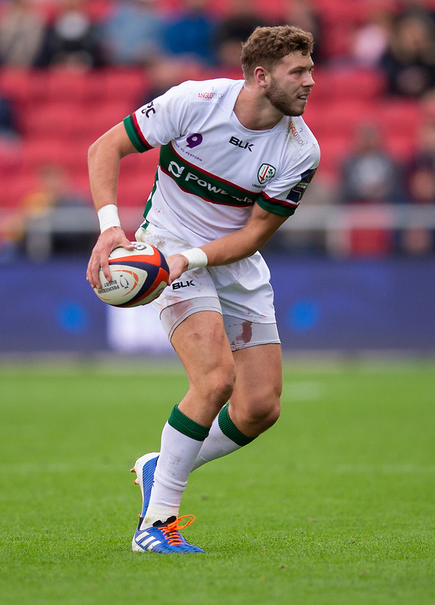 London Irish's Theo Brophy Clews<br /> <br /> Photographer Bob Bradford/CameraSport<br /> <br /> Premiership Rugby Cup Round Three - Bristol Bears v London Irish - Sunday 6th October 2019 - Ashton Gate - Bristol<br /> <br /> World Copyright © 2018 CameraSport. All rights reserved. 43 Linden Ave. Countesthorpe. Leicester. England. LE8 5PG - Tel: +44 (0) 116 277 4147 - admin@camerasport.com - www.camerasport.com