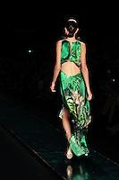SAO PAULO, SP, 20 MARÇO 2013 - SPFW -  AGUA DE COCO - Modelo durante desfile da grife Agua de Coco coleção Primavera-Verão 2013/14, em desfile da São Paulo Fashion Week (SPFW) na Bienal do Ibirapuera na região sul da capital paulista nesta quarta-feira, 20. (FOTO: MONICA SILVEIRA / BRAZIL PHOTO PRESS).