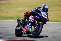 8th July 2020; Circuit de Barcelona Catalunya, Barcelona, Spain; FIM Superbike World Championship testing, Day One; Toprak Razgatlioglu of the Pata Yamaha WORLDSBK Team rides the Yamaha YZF R1