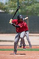 Arizona Diamondbacks outfielder David Sanchez (5) at bat during an Extended Spring Training game against the Cleveland Indians at the Cleveland Indians Training Complex on May 27, 2018 in Goodyear, Arizona. (Zachary Lucy/Four Seam Images)