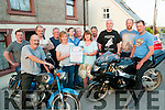 Duagh Motorcycle Charity Run. Pictured in Duagh to announce the upcoming motorcycle run for CMRE Crumblin on Saturaday 16th June were Patrick O'Connor, Tom Scanloon, Kevin O'Connor, John Lyons, Rose Gould, eamonn Dowling, John O'Connor, Bridie Carmody, Dan Costello, Michael Carmody & Alan & Brendan O'Brien