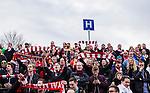 V&auml;llingby 2014-03-30 Fotboll Allsvenskan IF Brommapojkarna - Kalmar FF :  <br /> Kalmar supportrar p&aring; Grimsta under matchen<br /> (Foto: Kenta J&ouml;nsson) Nyckelord:  BP Brommapojkarna Grimsta Kalmar KFF supporter fans publik supporters