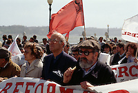 Portugal, politische Demonstration in Lissabon