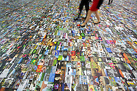 "Photokina in Cologne ist the World's biggest bi-annual photo fair..""Bildermeer (Sea of Images)"": An entire floor is covered with photographic prints."