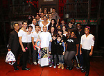 The cast during the Actors' Equity Gypsy Robe Ceremony honoring Jonathan Brody for  'A Bronx Tale'  at The Longacre on December 1, 2016 in New York City.