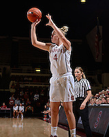 STANFORD, CA - NOVEMBER 1, 2012: Stanford Cardinal women's basketball plays Corban University at Maples Pavilion on the Stanford campus in Stanford, California.  Stanford won, 117-33.