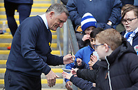 Blackburn Rovers manager Tony Mowbray signs autographs for fans ahead of kick-off<br /> <br /> Photographer Rich Linley/CameraSport<br /> <br /> The EFL Sky Bet Championship - Blackburn Rovers v Preston North End - Saturday 9th March 2019 - Ewood Park - Blackburn<br /> <br /> World Copyright © 2019 CameraSport. All rights reserved. 43 Linden Ave. Countesthorpe. Leicester. England. LE8 5PG - Tel: +44 (0) 116 277 4147 - admin@camerasport.com - www.camerasport.com