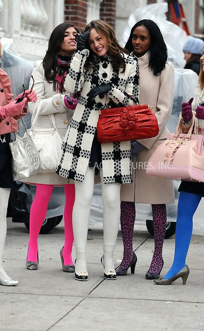 WWW.ACEPIXS.COM . . . . .  ....December 9 2008, New York City....Actress Leighton Meester (C) was on the Midtown Manhattan set of the TV show 'Gossip Girl' on December 9 2008 in New York City....Please byline: AJ Sokalner - ACEPIXS.COM..... *** ***..Ace Pictures, Inc:  ..tel: (212) 243 8787..e-mail: info@acepixs.com..web: http://www.acepixs.com