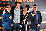 "Berto Romero, Dani de la Orden, Belen Cuesta and Andre Buenafuente during the presentation of the film ""El Pregón"" in Madrid, March 15, 2016<br /> (ALTERPHOTOS/BorjaB.Hojas)"