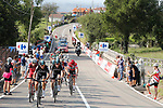 The group of favourites including race leader Chris Froome (GBR) Team Sky during Stage 19 of the 2017 La Vuelta, running 149.7km from Caso. Parque Natural de Redes to Gij&oacute;n, Spain. 8th September 2017.<br /> Picture: Unipublic/&copy;photogomezsport | Cyclefile<br /> <br /> <br /> All photos usage must carry mandatory copyright credit (&copy; Cyclefile | Unipublic/&copy;photogomezsport)
