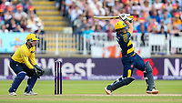 Glamorgan's Graham Wagg drives<br /> <br /> Photographer Andrew Kearns/CameraSport<br /> <br /> NatWest T20 Blast Semi-Final - Birmingham Bears v Glamorgan - Saturday 2nd September 2017 - Edgbaston, Birmingham<br /> <br /> World Copyright &copy; 2017 CameraSport. All rights reserved. 43 Linden Ave. Countesthorpe. Leicester. England. LE8 5PG - Tel: +44 (0) 116 277 4147 - admin@camerasport.com - www.camerasport.com