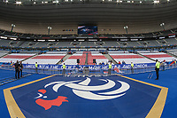 General view of the inside of Stade de France with a St. George Cross where the French supporters will sit ahead of the International Friendly match between France and England at Stade de France, Paris, France on 13 June 2017. Photo by David Horn/PRiME Media Images.
