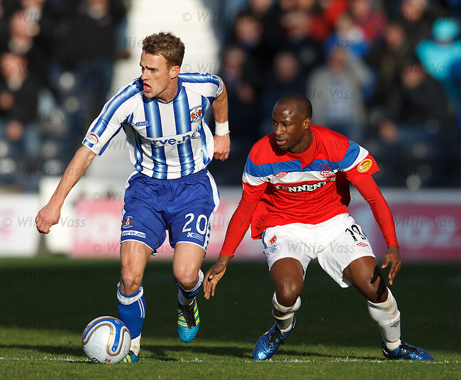 Dean Shiels and Sone Aluko