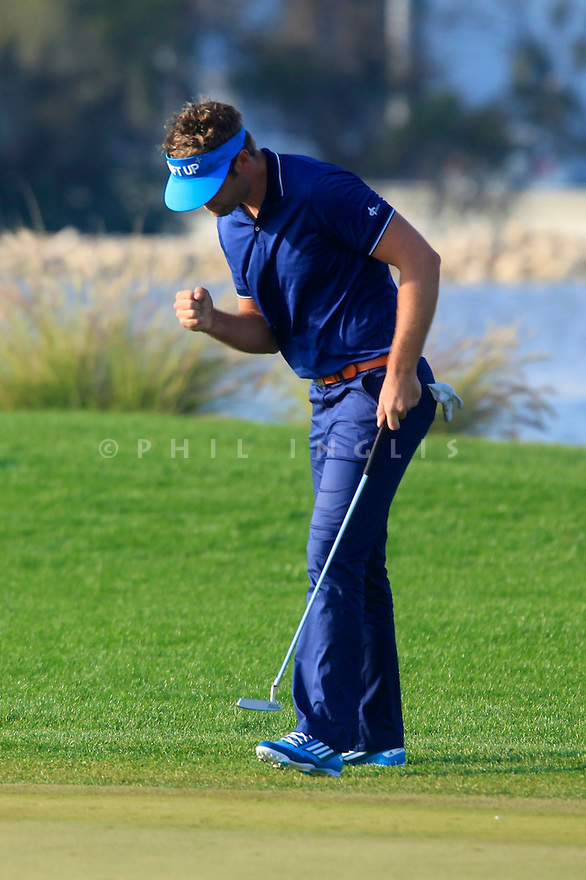 Johan Carlsson (SWE) in action during the second round of the Commercial Bank Qatar Masters played at Doha Golf Club, Doha, Qatar. 22 - 25th January 2014 (Picture Credit / Phil Inglis)