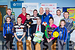 Killarney Credit Union launched their Sports gear competition in the branch on Friday evening front row l-r: Laoise Carey Inter Kenmare, Paul Kiely St Pats, Aodain O'Halloran, St Pats, Pat Delaney Killarney Credit Union, Pauline Russell Killarney Cycling Club, Mia Granville Inter Kenmare. Back row: Back row  Mike Crowley Gleneagle Squash club, Paul Murphy Killarney Rugby Club, Thomas Crowley St Pats, Donal Carroll Beaufort Golf club, Donie Murphy Killarney Athletic, Paul O'Donnell O'Neills Sportswear and Mike O'Donoghue Gleneagle Squash club