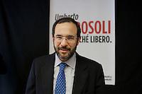 Milano 10-01-2013: Umberto Ambrosoli candidato per il centrosinistra a presidente della Regione Lombardia, presenta la sua lista civica Patto Civico.