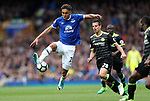 Dominic Calvert-Lewin of Everton during the English Premier League match at Goodison Park , Liverpool. Picture date: April 30th, 2017. Photo credit should read: Lynne Cameron/Sportimage