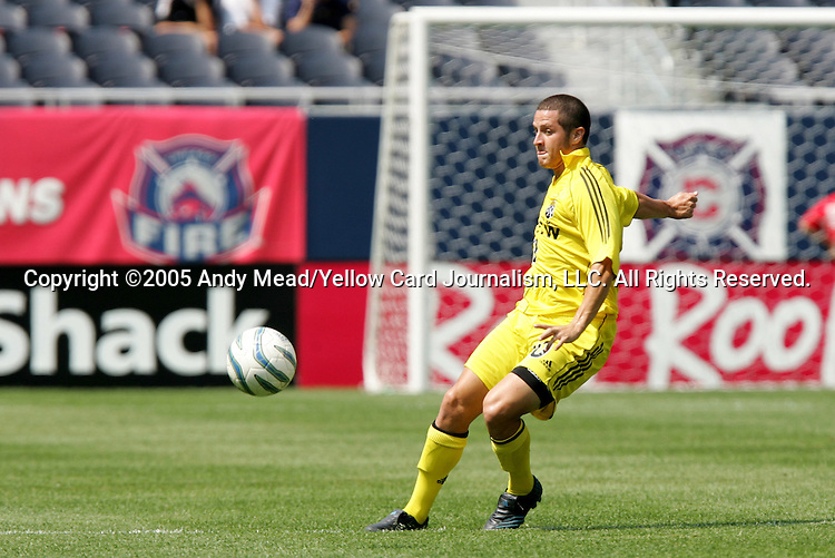 16 July 2005: Eric Vasquez. The Chicago Fire and Columbus Crew tied 1-1 at Soldier Field in Chicago, Illinois in a regular season Major League Soccer game.