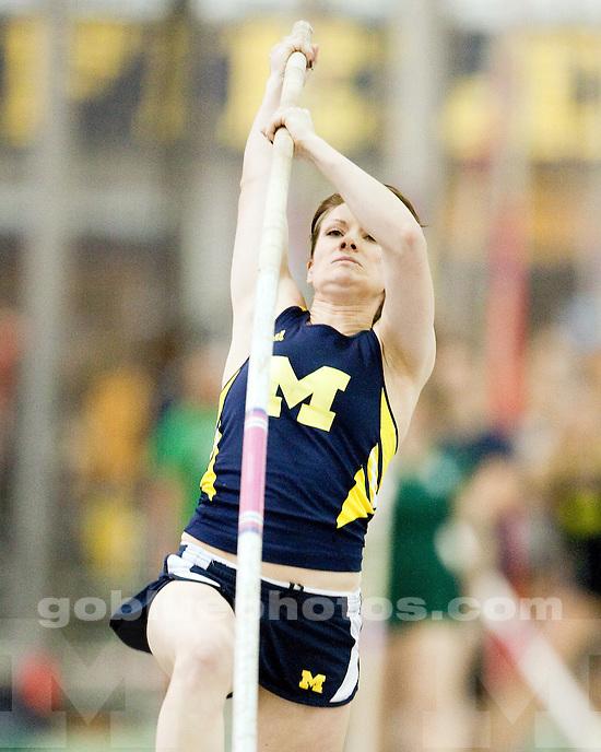2/20/2010 Michigan women's track and field Silverston Invitational.