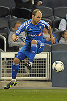 Justin Mapp (21) midfield Montreal Impact in action..Sporting Kansas City defeated Montreal Impact 2-0 at Sporting Park, Kansas City, Kansas.