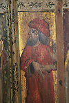 Elijah medieval rood screen paintings, St Andrew church, Westhall, Suffolk, England, UK