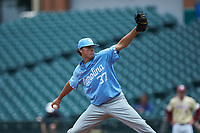 North Carolina Tar Heels relief pitcher Bo Weiss (37) in action against the Boston College Eagles in Game Five of the 2017 ACC Baseball Championship at Louisville Slugger Field on May 25, 2017 in Louisville, Kentucky. The Tar Heels defeated the Eagles 10-0 in a game called after 7 innings by the Mercy Rule. (Brian Westerholt/Four Seam Images)