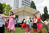 Portugese Dance Group perform at Westbourne Festival, Paddington, London.