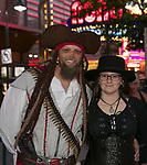Justin and Michaela during the Pirate Crawl in downtown Reno on Saturday, August 17, 2019.